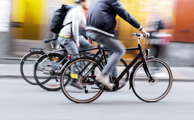 biking in the city