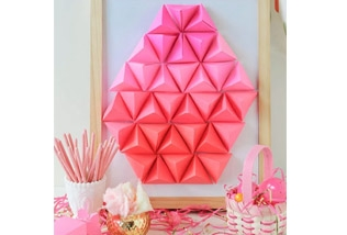 Geometric paper origami egg