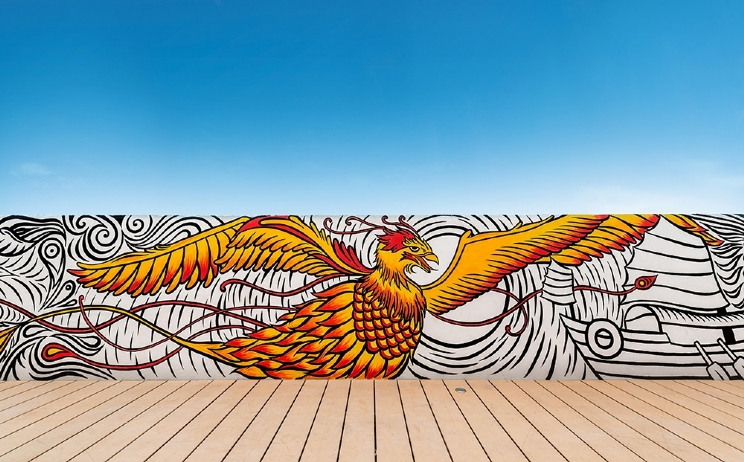 Murals add personality and artistic value to urban spaces