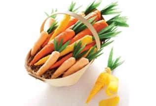 Crepe paper carrots