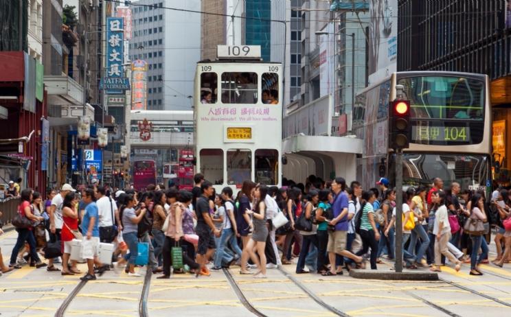 Hong Kong crosswalk