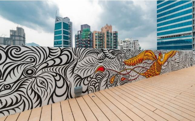 The Mercury - rooftop mural
