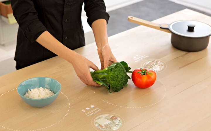 IKEA's Table for Living, with sophisticated sensors and intelligent interface