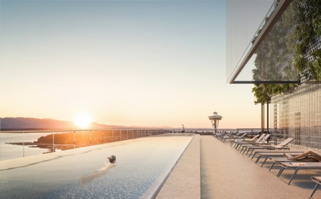 First Light, Seattle rooftop pool