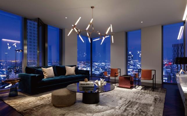 Elizabeth Tower, Manchester living room