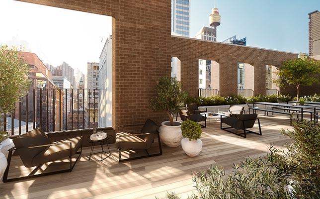 Barrack Place terrace
