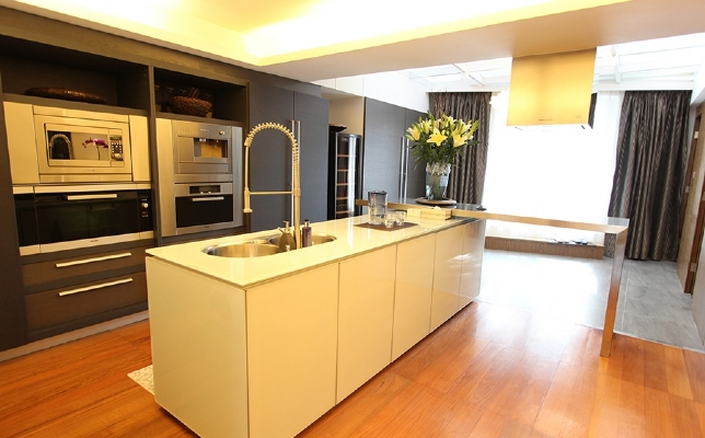 Open plan kitchen for smart home design